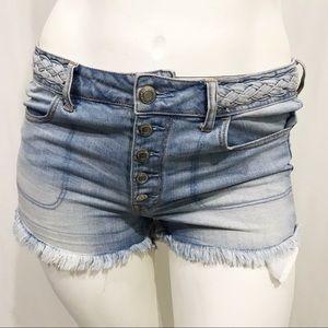 American Eagle High Rise Cutoff Jean Shorts